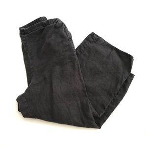 Flax Linen Cropped Wide Leg Pants | S M Gray